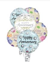 6 Anniversary Balloons balloons
