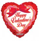 "6 assorted 18"" valentine mylar balloons"