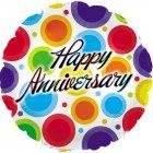"6 assorted 18"" anniversary mylar balloons"