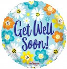 "6 assorted 18"" get well mylar balloons"