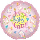 """6 assorted 18""""  it's a girl mylar balloons"""