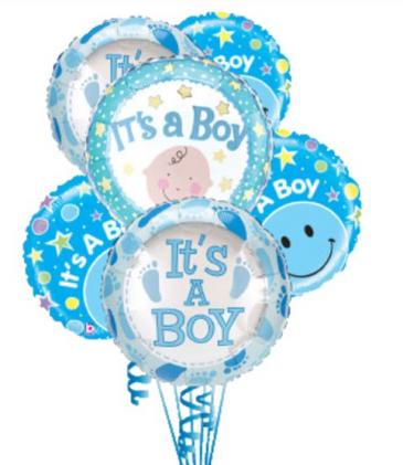6 Baby Boy Balloons Balloons