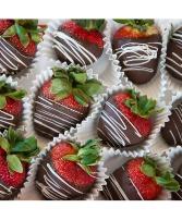 6 Chocolate Dipped Strawberries Fruits & Berries