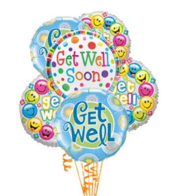 6 Get Well Balloons balloons