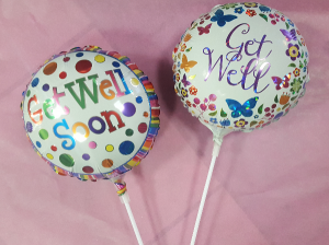 "9"" Get Well Soon Balloon Stick-in Add-On in Croton On Hudson, NY 