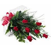 6 Long Stem Roses Wrapped Graduation