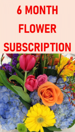 6 Month Flower Subscription Service