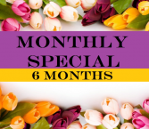 6 Months Subscription  Floral Arrangement