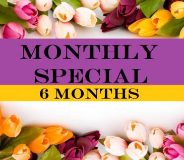 6 Months Subscription  Floral Arrangement