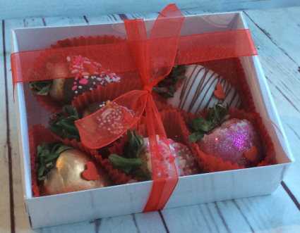 6 Pack Chocolate Covered Strawberries Only available for delivery 02/13-14