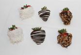 6 Premium Chocolate Dipped Strawberries Fruits & Berries