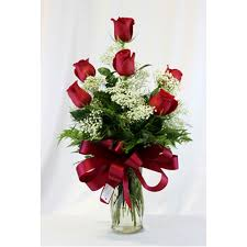 6 Beautiful Red Roses  Beautiful Red Roses Half Dozen