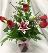 6 Rose vase With Stargazer