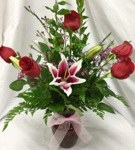 6 Rose vase With Stargazer