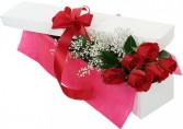 6 Roses in Lovely Box Boxed Flowers