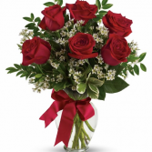 6 roses surprise fresh arrangement