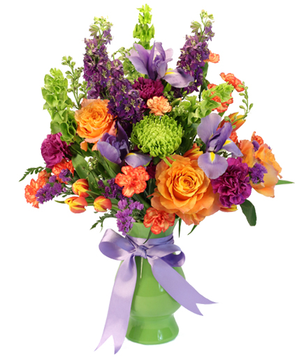 Blooming with Color Vase Arrangement