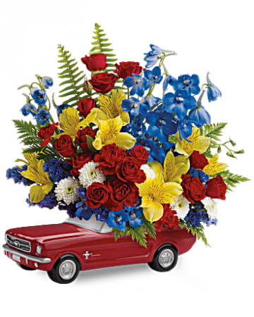 65 Ford Mustang  Blooms for Him