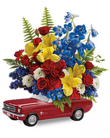 '65 Ford Mustang Bouquet Fresh Arrangement
