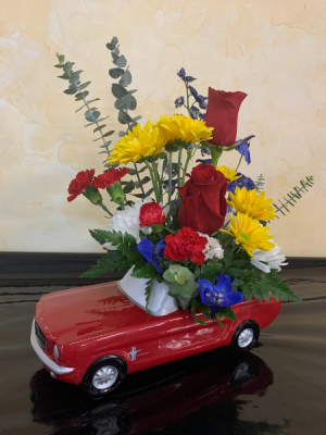'65 FORD MUSTANG BOUQUET Keepsake in Cushing, OK | BUSY BEE FLORAL