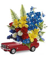 '65 Ford Mustang  flower arrangement