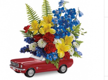 65 Ford Mustang Keepsake with fresh flowers