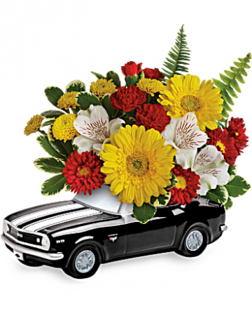 67 Chevy Camaro Fresh Floral Arrangement