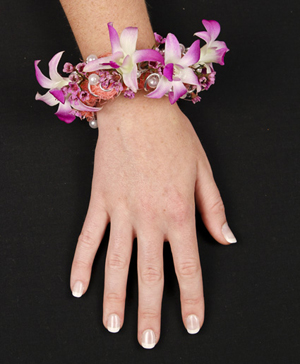 CHIC PINK ORCHID Prom Corsage in Dallas, TX | Paula's Everyday Petals & More