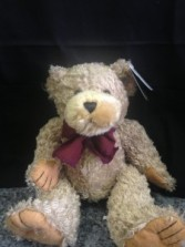 "7"" Burgundy Bow Bear"