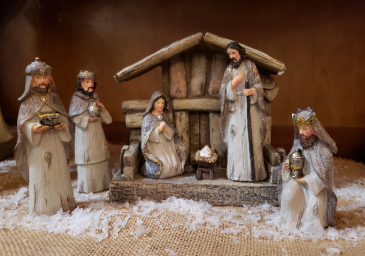 7 piece Natural Nativity Set