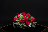 Low Dozen Pave Red Roses or Any Color Roses