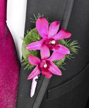 Purple Paradise Prom Boutonniere in Germantown, MD | GENE'S FLORIST & GIFT BASKETS