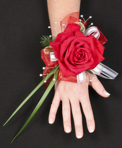 Romantic Red Rose Prom Corsage In Colorado Springs Co Flowers To Go