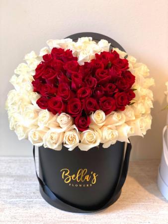75 Red Heart Rose Box Fresh-Cut Roses
