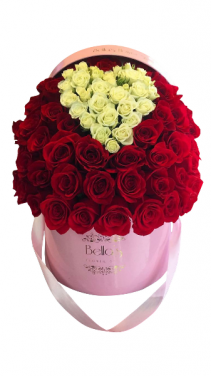 75 Roses with heart