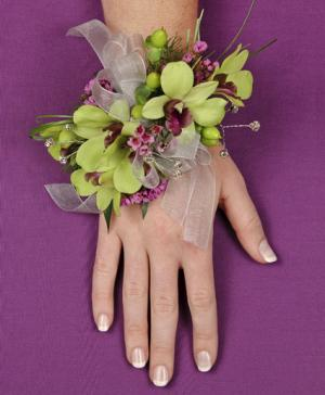 GLAMOROUS GREEN Prom Corsage in Houston, TX | EXOTICA THE SIGNATURE OF FLOWERS
