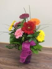 sunny days gerbera daisy arrangement