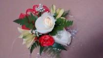 2 rose wrist corsage prom
