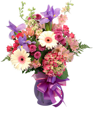 Hints of Iris Flower Arrangement in Sunrise, FL | FLORIST24HRS.COM