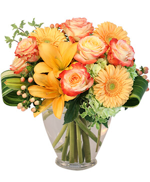 Love Me at Sunset Vase Arrangement  in Oxnard, CA | Mom and Pop Flower Shop