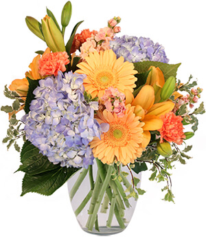 Filled with Delight Vase Arrangement  in Elmsford, NY | J R FLORIST INC