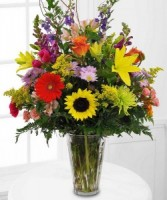"""Here Comes Summer "" vase arrangement"