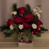 8FR000079 Red Truck Christmas Arrangement