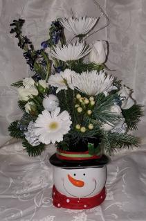 8FR000085 Frost On The Snowman Fresh Arrangement