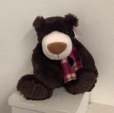 9.5 stuffed brown bear with scarf Stuffed Animal