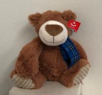 """9.5 """" tan bear with scarf Stuffed Animal"""