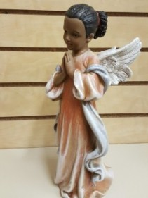 African American Angel  Statue 12""