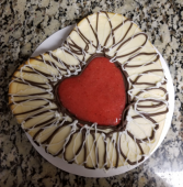9 inch heart shaped cheesecake
