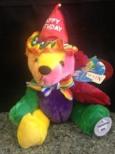 "9"" Rainbow Birthday Bear"