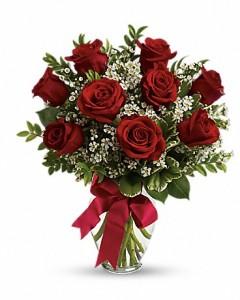 9 Roses Vase Arrangement